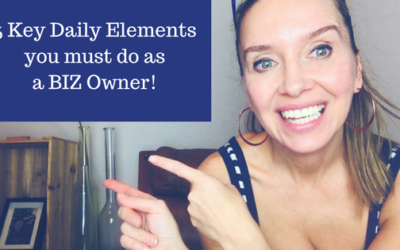Are these 5 daily  elements your routine as an entrepreneur ?
