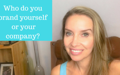 Who do you brand yourself  or your company?
